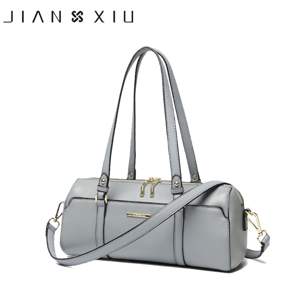 JIANXIU Fashion Women Genuine Leather Handbags Famous Brands Handbag Messenger Shoulder Bag Lychee Texture Pillow Small