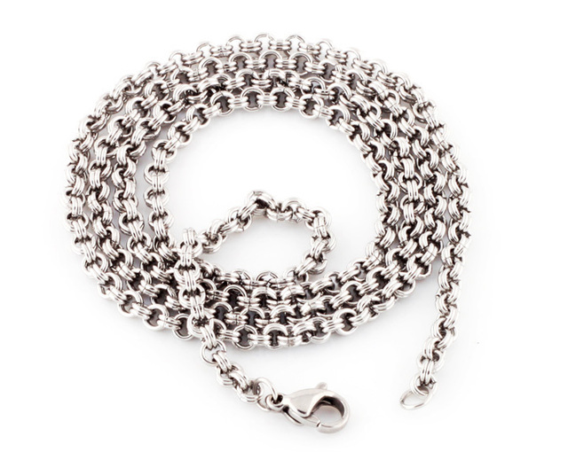 ON SALE Link Cable Chain Wholesale 316L Stainless Steel Chains 18-22 inch 2-3.5mm Fashion Necklace 5 pcs/lot FREE SHIPPING