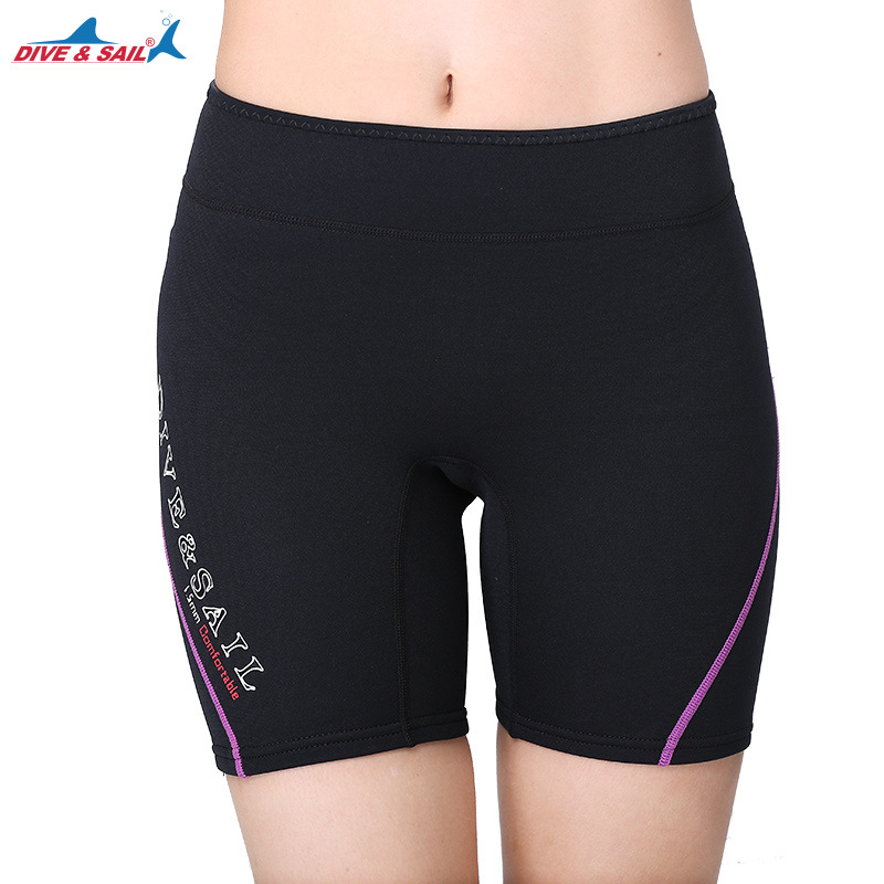 DIVE&SAIL 1.5MM Neoprene Diving Wetsuits Shorts For Men/Women Swim Short Pants Winter Warm Swimming Sailing Surfing Rash Guards