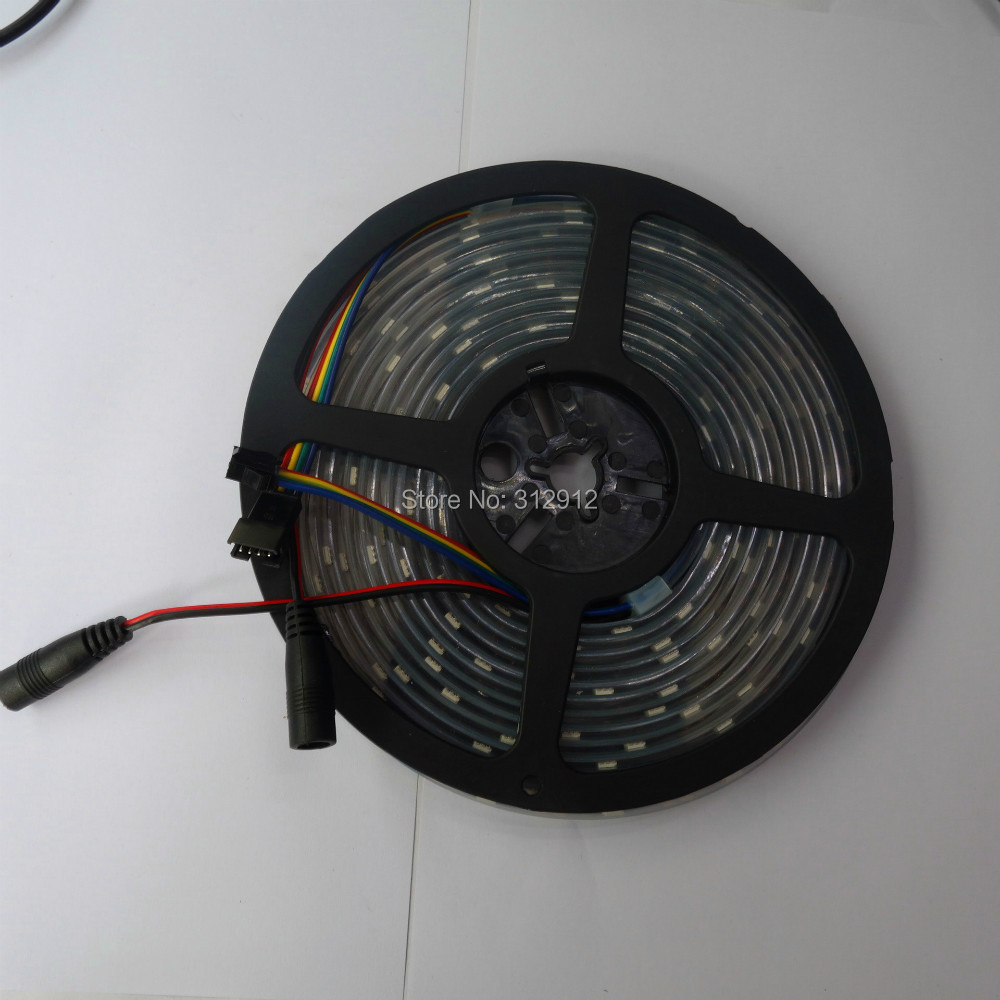 addressable 5M DC5V APA-102C led pixel strip;30leds/m with 30pixels/m;BLACK PCB;IP66;waterproof in silicon tube