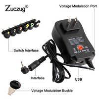Adaptador CA/CC 3V 4,5 V 5V 6V 7,5 V 9V 12V 2A 2.5A adaptador de corriente ajustable fuente de alimentación Universal para lámpara de tira de luz led 30W
