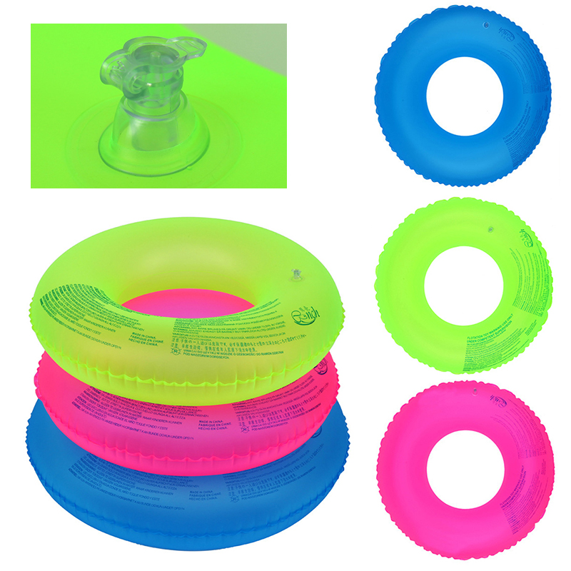 Adult Children's Summer Outdoor Inflatable Fluorescent Swimming Circle Swimming Pool Swimming Pontoon For Outdoor