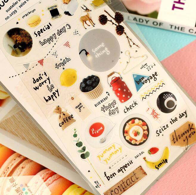 1Sheet Cute Korean Sonia DIY Dairy Decorative Sticker Seize Today Series