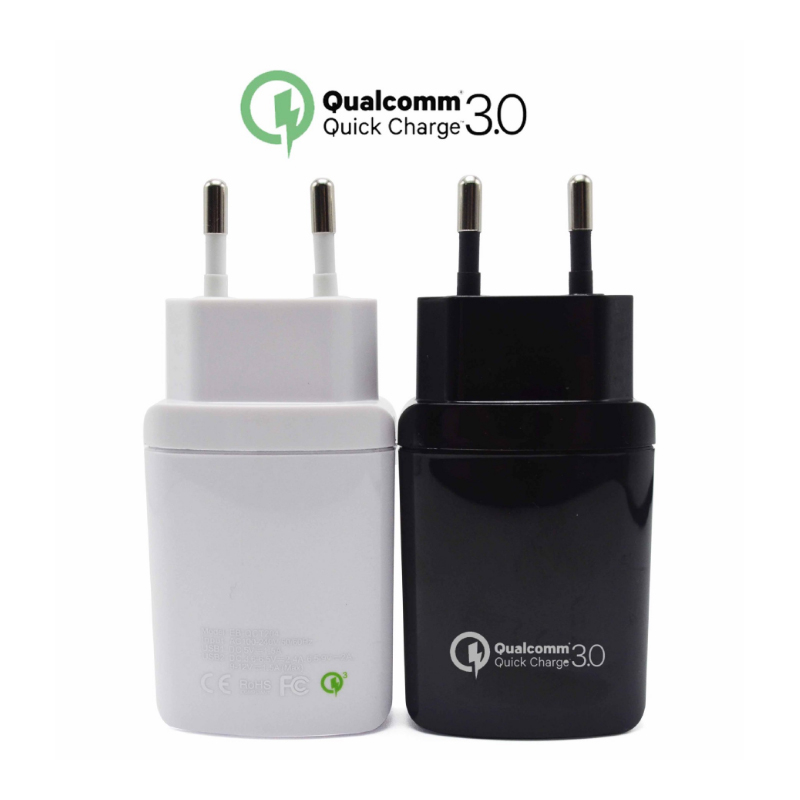 QC 3.0 <font><b>Phone</b></font> <font><b>Charger</b></font> Dual USB EU Plug Fast Wall Travel Adapter for Asus ZTE Nubia LeEco LG HTC Mi Samsung Sony Moto