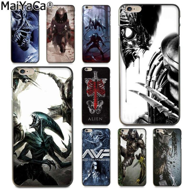 MaiYaCa Alien Vs Predator Luxury Fashion Phone Case for Apple iPhone 8 7 6 6S Plus X 5 5S SE 5C Cover
