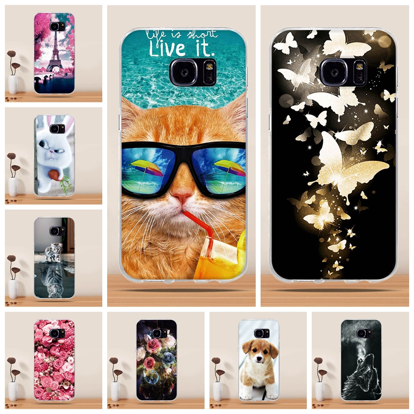 Phone Case For Samsung Galaxy S7 Case Soft Silicone Cover for Samsung Galaxy S7 Case Cover Pattern Cover for Samsung S7 S 7 Case