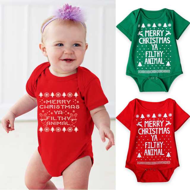 5f561d1ce 2017 New Baby Christmas Costume Autumn Summer Infant Baby Happy Christmas  Clothing Rompers Jumpsuit Clothes Outwear