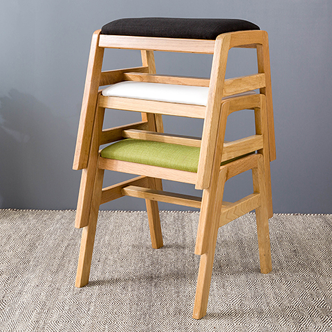 Nordic IKEA creative home fashion casual cloth stool stool chair white oak  solid wood furniture in Bar Stools from Furniture on Aliexpress com    Alibaba. Nordic IKEA creative home fashion casual cloth stool stool chair