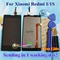 Pantalla LCD + Asamblea de Pantalla Táctil Digitalizador de alta Calidad Para xiaomi redmi 1 hongmi redmi 1 s teléfono móvil 4.7 pulgadas negro regalos
