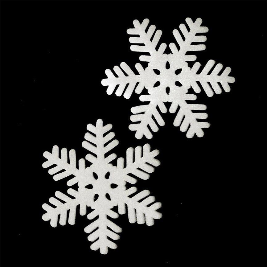 Wallpaper Sticker 2Pcs Merry Christmas Year Classic Snowflake Ornament Foam Wall Sticker Decor 15cm Wallpaper For Living Room B#