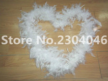 Beautiful white 2 meters long (38-40 grams) decoration feather garment accessories wedding DIY fire feather fire tablets