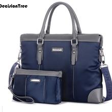 Leisure Men Briefcases Fashion Men Business Solid Zipper 14 inch Laptop Bags Men's Shoulder Bags With Handbags Two Sizes L416
