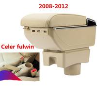 For Chery A13 Very Celer fulwin armrest box central Store content Storage box with cup holder ashtray accessories 2008 2012