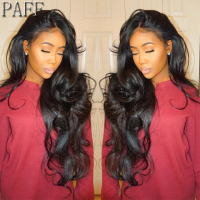 PAFF Lace Front Human Hair Wig Glueless With Side Part Peruvian Remy Hair Wig Pre Plucked Bleached Knots 130% 150%180% Density