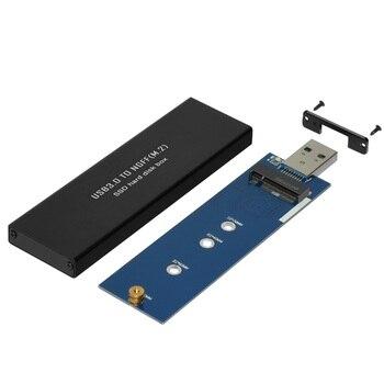 Ssd 케이스 usb 3.0-sata 기반 2280 m.2 ngff ssd 휴대용 인클로저 (asm1153e 컨트롤러 및 usb 커넥터 내장)