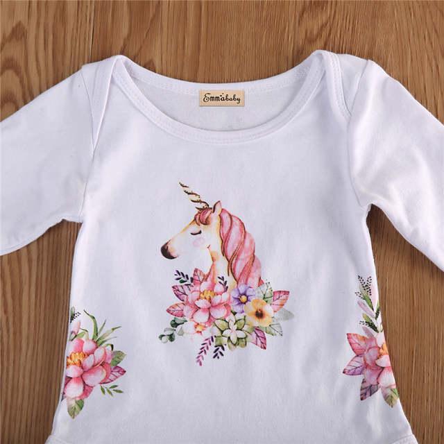5779ccbd8 Online Shop Unicorn Cotton Baby Romper Newborn Baby Girls Boy Cute ...