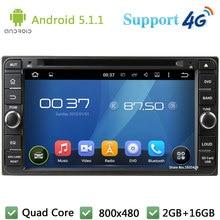 Quad Core 16GB Android 5.1 Car DVD Player Radio Stereo for Toyota Corolla Camry RAV4 Vios Terios Hilux Land Cruiser Avanza Prado