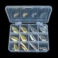 Рыболовные приманки Peche, 12 шт./кор., набор металлических Блесен, ложка, рыболовные снасти, коробки, воблеры, жесткие приманки, крючки, приманки, искусственные, Pesca - фото