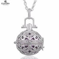 الحمل هدية يودورا الوئام الكرة مجوهرات النحاس المنجد قفص مع الملاك المتصل الكرة تتناغم قلادة للحامل