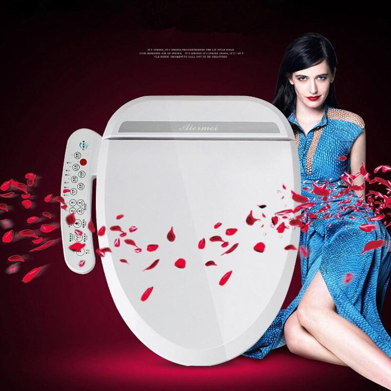 Intelligent Heated Toilet Seat Smart Bidet Toilet Seats WC Sitz Automatic Toilet Lid Cover Female Buttocks Washing