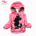 Belababy Autumn Girl Cartoon Hoodies Coat New Fashion Children Fur Warm Jacket Winter Kids Pullover Sweater Long Sleeve Outwear