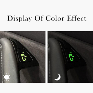 Image 4 - LUCKEASY For Tesla Model 3 and Tesla model Y Interior Decoration Sticker Window Switch Door Handle Reminder Sticker 8pcs / set