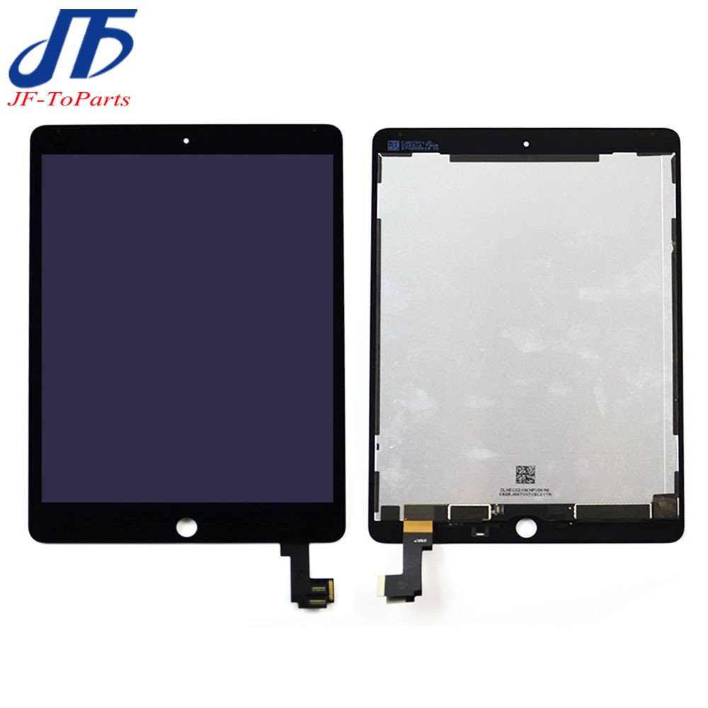 New 100% Tested Replacement For ipad 6 Lcd Display with Touch Screen Digitizer panel for ipad6 air 2 A1567 A1566 with sticker 100% tested for xiaomi mi max 2 lcd display touch screen replacement parts 6 44 inch with tools as gift free tracking