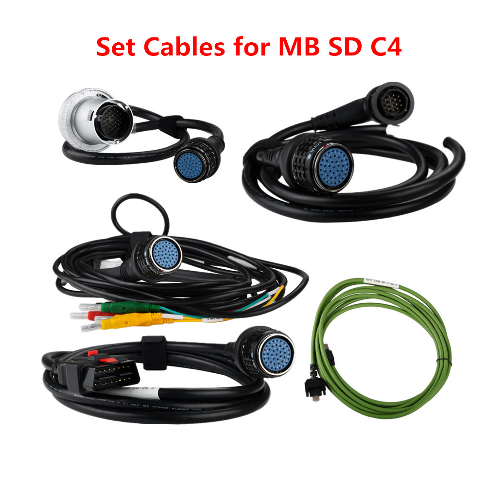 Best Price Set Cables Only for MB Star C4 Star SD Connect 4 Cables Free Shipping