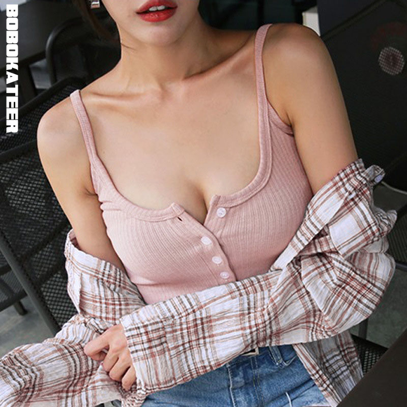 BOBOKATEER sexy slanke tank top mouwloze crop top halster wit zwart bustier zomer crop tops 2018 blusa cropped feminino