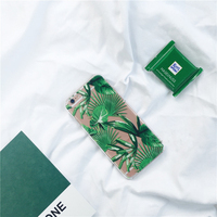 Cool Summer Green Leaves Plastic PC Phone Case For Iphone 6 6 6plus 6s 6s Back