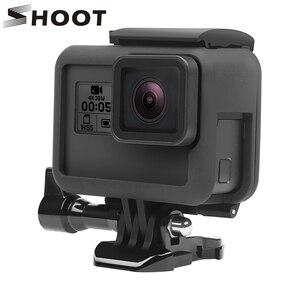 Image 1 - Bắn Khung Bảo Vệ Ốp Lưng Ốp Cho GoPro Hero 7 6 5 Màu Đen Bảo Vệ Camera Biên Giới Cho Đi Pro 6 5 camera Hành Động Phụ Kiện