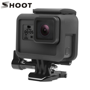 Image 1 - לירות מגן מסגרת מקרה הר עבור GoPro גיבור 7 6 5 שחור מצלמה מגן גבול עבור ללכת פרו 6 5 פעולה מצלמה אבזר