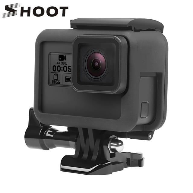 לירות מגן מסגרת מקרה הר עבור GoPro גיבור 7 6 5 שחור מצלמה מגן גבול עבור ללכת פרו 6 5 פעולה מצלמה אבזר