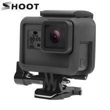SCHIEßEN Schutz Rahmen Fall Mount für GoPro Hero 7 6 5 Schwarz Kamera Schutzhülle Grenze für Go Pro 6 5 action Kamera Zubehör