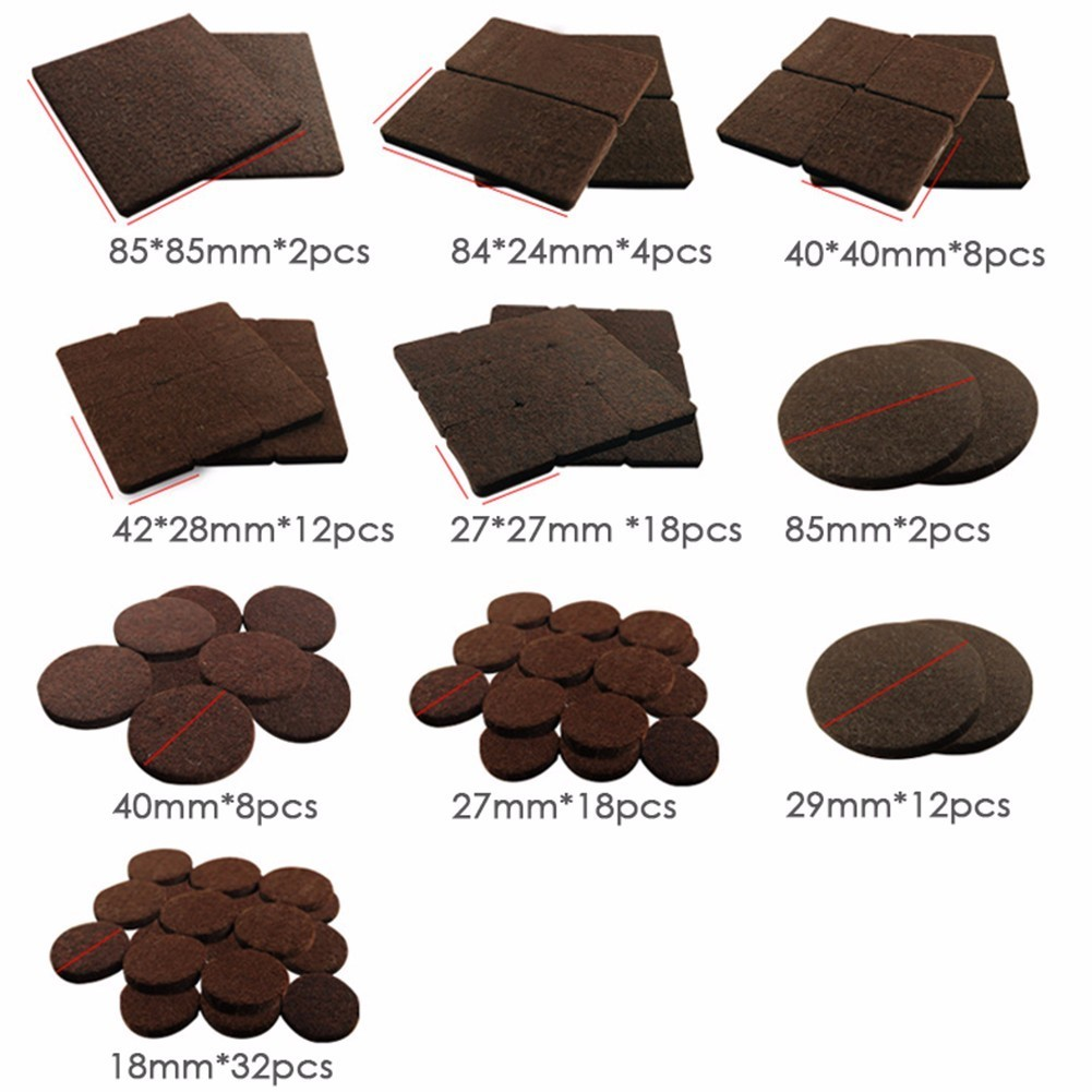 116pcs Thickened Felt Chair Pads For Furniture Feet Legs Wool Roving Felting Protect Hardwood Flooring Preventing Noises Durable In From Home Garden