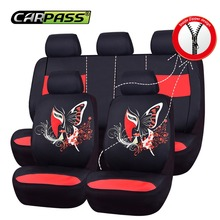 цена на Car-pass Car Seat Covers Luxury Fashional Full Seat 3 Colors Mesh Fabric Leather Most Car Seat Covers For Toyota BMW Nissan