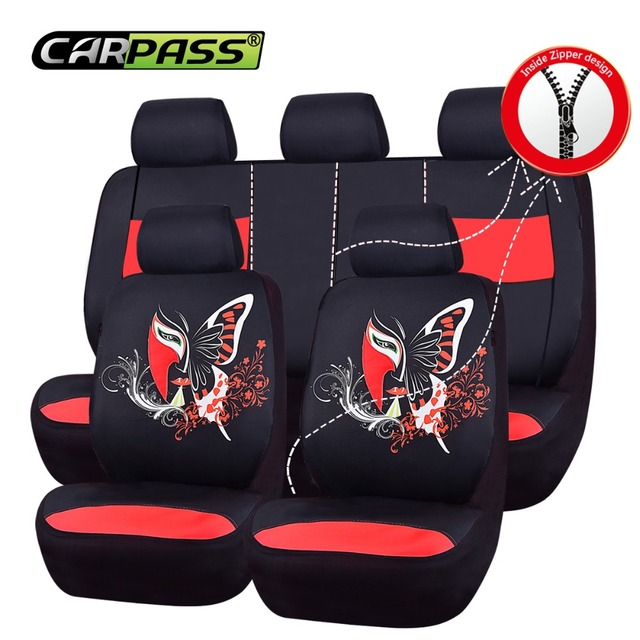 Car pass Car Seat Covers Luxury Fashional Full Seat 3 Colors Mesh ...