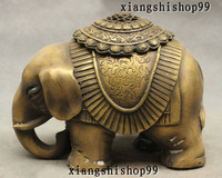 Marked Chnese Buddhism Bronze Auspicious Elephant Statue Incense Burner Censer