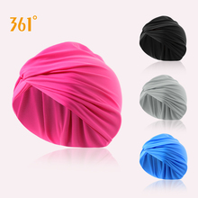 361 Swim Caps for Women Elegant Pleated Long Hair Swimming Cap Ear Protection Swimming Accessories retro floral swimming cap hair protection gear bathing caps for women ladies to keep hair dry