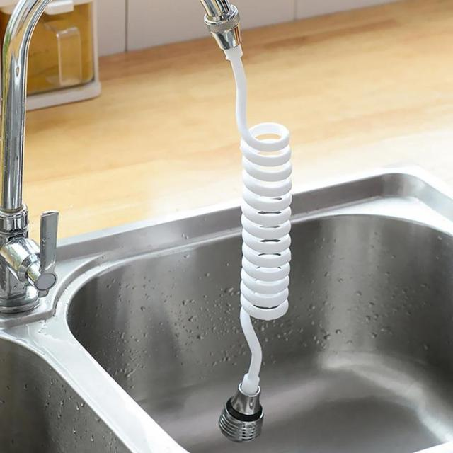 Faucet Sprayer Extension ABS Plastic Stretchable Durable Home Kitchen Devices