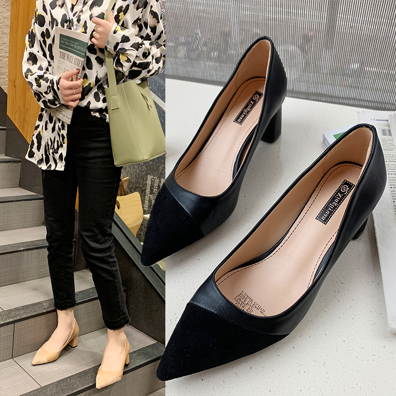 Cremulen 2019 New Fashion High Heels Women Lady Pointed Toe Pumps Shoes Casual Office Work