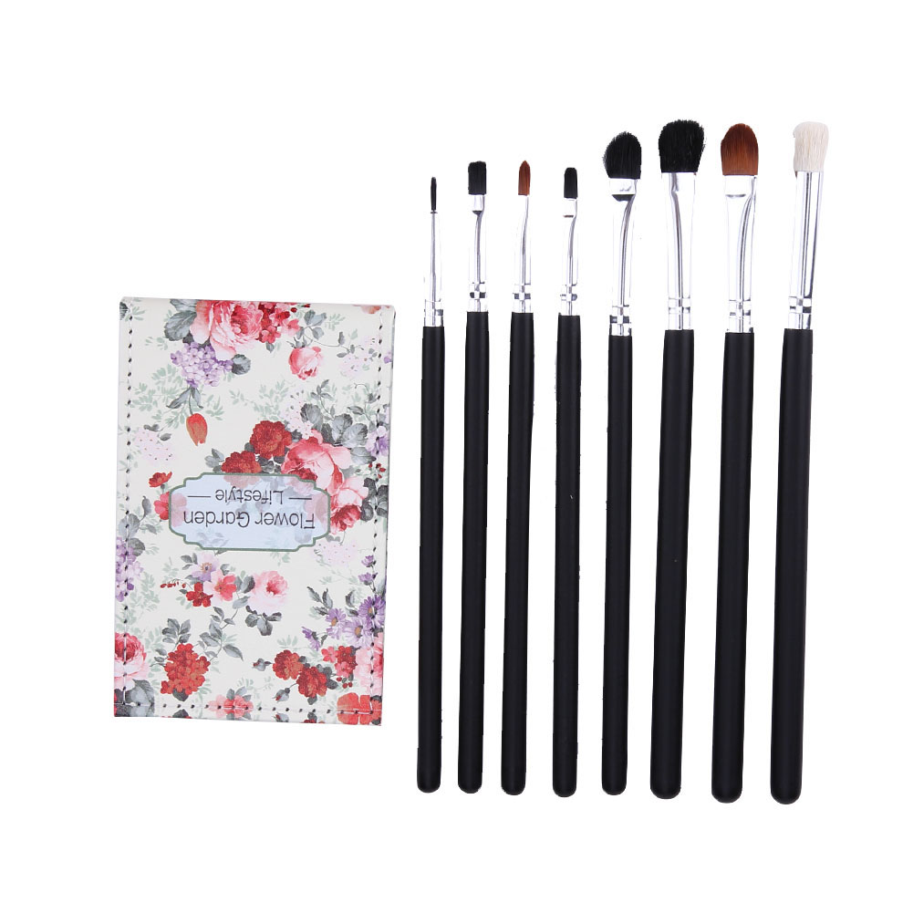 Pro Colorful Makeup Brushes Powder Foundation Eye Shadow Brushes Set Makeup Mirror with PU Case cosmetic accessories bob cosmetic makeup powder w puff mirror ivory white 02
