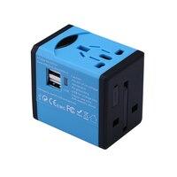 Universele Adapter Stekkers Sockets 5 V 2.1A AC NAAR USB Power Lader voor Android en IOS Systeem