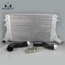 Intercooler + Silicone hose / pipe / piping  (Version 2) kits for VW 06-10 VW GTI Golf Turbo V MK5 2.0T FMIC Blue