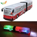 Ultra long double motor bus 39CM electric model of the publicvehicle acoustooptical toy cars large bus for kids Christmas gift