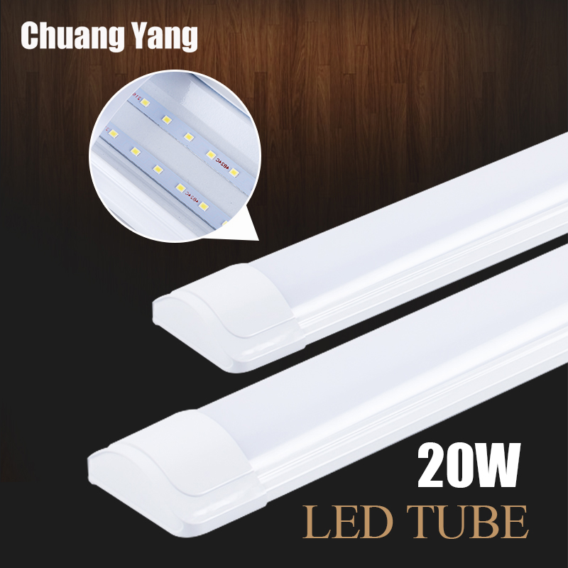 Led Tube Light 220V 20W 60CM T5 T8 Tube Lamp Wall Lamp Warm White Cold White Light Lampara Ampoule PVC Plastic LED Tube 1200mm