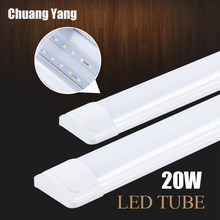 Tubo de luz Led 220V 20W 60CM T5 T8 lámpara de pared blanco cálido luz blanca fría lampara ampolla PVC plástico LED tubo 1200mm(China)