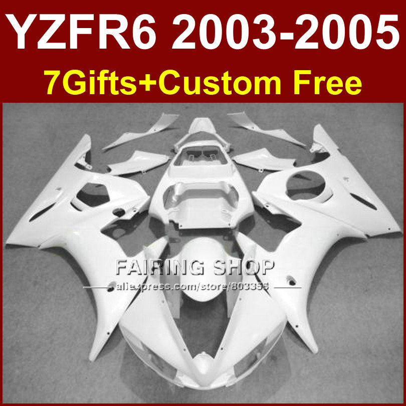 TOP white Custom fairing parts R6 for YAMAHA r6 Motorcycle fairings sets 03 04 05 YZF R6 2003 2004 2005 fairing kits SU7D mfs motor motorcycle part front rear brake discs rotor for yamaha yzf r6 2003 2004 2005 yzfr6 03 04 05 gold