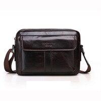 Male Genuine Leather Messenger Crossbody Briefcase Satchels Handbags Men Leather Shoulder Bag Work Business 5 Zip Practical Bags