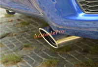Stainless Chrome Rrar Tail Pipe Exhaust Muffler Pipe Cover Trim For Honda FIT Jazz 2014 2015